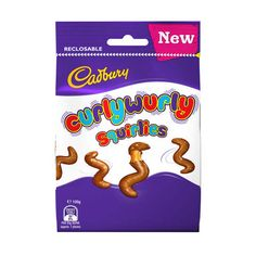 The fun twists of caramel covered in chocolate that Curly Wurly is known for have made their way into a bag. Perfect for sharing with friends these squirlies will surely leave you wanting for more. Helium Balloon Kit, Cadbury Flake, Cadbury Milk Chocolate, British Candy, Growing Up British, School Organisation, New Flavour, Confectionery