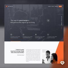 Landing Page New York 2015 by Andrew Baygulov Corporate Website Design, Business Web Design, Design Your Own Website, Website Design Layout, Web Layout, Corporate Design, Web Design Quotes, Web Design Trends, Ui Design