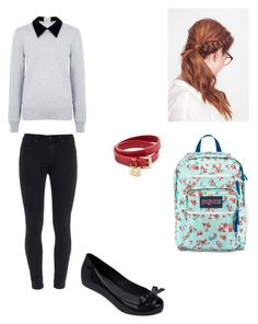 Kathleen Marin #7 by h-granger14 on Polyvore featuring beauty, Valentino, JanSport, Edit, Paige Denim and Melissa