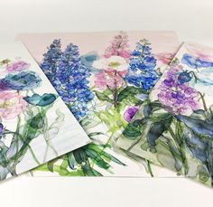 Fresh from the easel - watercolour florals by Jess Trotman.