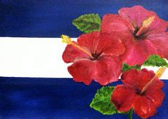 """""""Gumamela"""" also known as the hibiscus.  Many inquired about this one as well, but it is a commissioned work."""