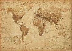 mapa świata retor