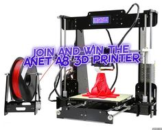 You always wanted a 3D Printer but they Cost Way To Much? Then enter this Giveaway to be in the run for a New Anet A8 3D Printer.