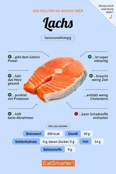 You should know about salmon eatsmarter.de # nutrition You should know about salmon eatsmarter. Diet And Nutrition, Holistic Nutrition, Complete Nutrition, Nutrition Tracker, Health Facts, Health Tips, Health Benefits, Healthy Life, Healthy Living
