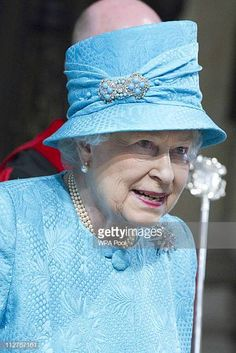 Queen Elizabeth II attends the Royal Maundy Day Service at. Queen Elizabeth II Attends The Royal Maundy Service At Westminster Abbey Prince Charles And Diana, Prince Philip, Santa Lucia, Queen Elizabeth Jewels, The Queens Children, British Monarchy History, Queen Hat, Short Grey Hair, Queen Elizabeth