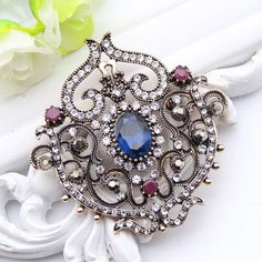 Cheap pin corsage, Buy Quality flower brooch pin directly from China rhinestone brooch Suppliers: Vintage Women Turkish Flower Brooch Pin Resin Jewelry Rhinestone Brooches Broches Arabia Paisley Pattern Lapel Hijab Pin Corsage