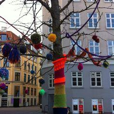 Warm tree in cold Copenhagen