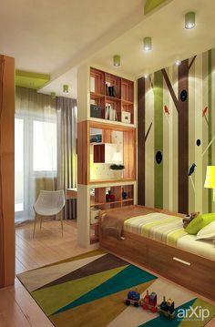Фото Интерьер детской - интерьер, зd визуализация, квартира, дом, детская комната, поп-арт, 20 - 30 м2, интерьер