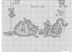 Pooh birth sampler chart 3/3.....Solo Patrones Punto Cruz (pág. 155) | Aprender manualidades es facilisimo.com
