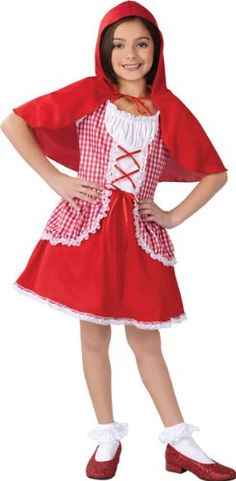 Child's Little Red Riding Hood Girl's Halloween Costume 2014 - This Costume includes red gingham. Fast deliver is a option is available. Little Red Riding Hood Halloween Costume, Red Riding Hood Party, Halloween Costumes 2014, Girl Costumes, Hood Girls, Red Gingham, Disney Princess, Children, Halloween Costumes For Girls