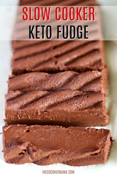 This keto fudge is made with full fat coconut milk sugar free chocolate chips and is made in a slow cooker! This keto fudge is made with full fat coconut milk sugar free chocolate chips and is made in a slow cooker! Coconut Recipes, Fudge Recipes, Real Food Recipes, Crockpot Recipes, Milk Recipes, Cooker Recipes, Slow Cooker Fudge, Slow Cooker Meatloaf, Low Carb Desserts