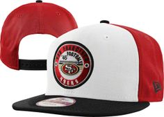 49ers Snapback Hat in white red
