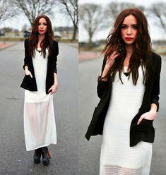HALF SEE-THROUGH DRESS (by Lisa Olsson) http://lookbook.nu/look/3288549-HALF-SEE-THROUGH-DRESS