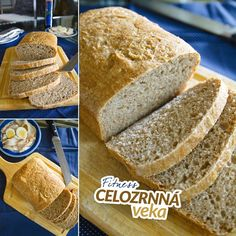 Fitness celozrnná veka - zdravý recept Bajola Food And Drink, Fitness, Bread, Recipes, Breads, Baking, Excercise, Health Fitness