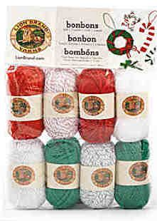 Lion Brand Bonbons Yarn: Jingle Bells are the most festive way to work up a variety of Christmas crochet patterns. Giveaway compliments of Lion Brand Yarns and AllFreeCrochet.