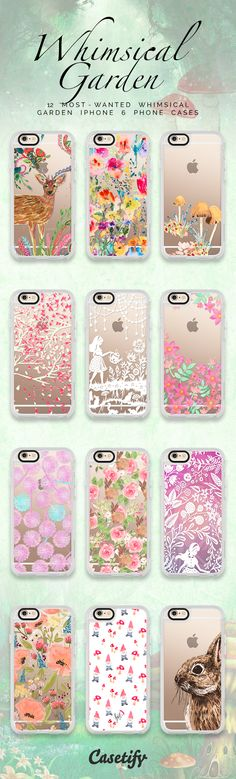 Top 12 whimsical garden iPhone 6s protective phone cases | Click through to see more floral animal iPhone phone case ideas >>> https://www.casetify.com/artworks/9O7TiwrWoD #floralprint | @casetify