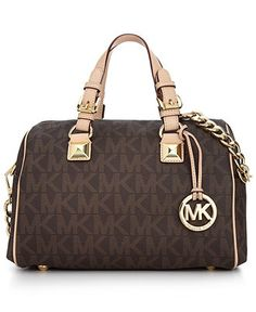 MICHAEL Micheal Kors Handbag, Grayson Monogram Medium Satchel - Shop All - Handbags & Accessories - Macy's