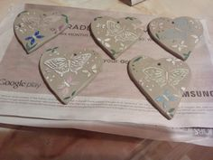 Ceramic gift tags ready for  Xmas