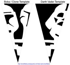 Star Wars Paper Snowflakes Instructions
