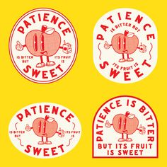 Patience is bitter, but its fruit is sweet - Aristotle. Logo project using stoic sayings. Graphic Design Posters, Graphic Design Typography, Branding Design, Logo Design, Inspiration Typographie, Typography Inspiration, Logo Sticker, Sticker Design, Posters Conception Graphique