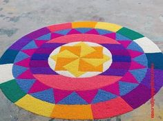 50 Ganga Saptami Rangoli Design (ideas) that you can make yourself or get it made during any occasion on the living room or courtyard floors. Rangoli Designs Peacock, Easy Rangoli Designs Diwali, Rangoli Designs Latest, Simple Rangoli Designs Images, Free Hand Rangoli Design, Small Rangoli Design, Rangoli Ideas, Colorful Rangoli Designs, Beautiful Rangoli Designs