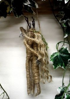 Handfasting Gift. Pagan God & Goddess Love Amulet. Hand Crafted Jute Figures.