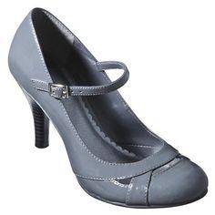 Women's Xhilaration® Sunstone Mary Jane Pumps - Grey Patent.Opens in a new window