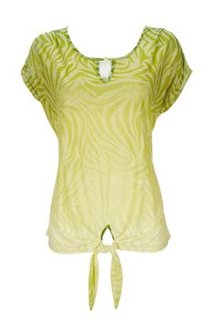 Lime Green Animal Print Top