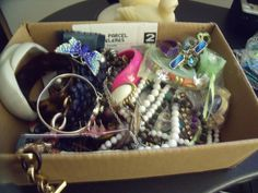 Mixed Jewelry Lot - Rings, Bracelets, Necklaces Earrings, Brooches & Watch | eBay