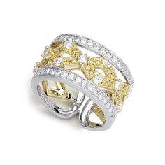 Simon G Jewelry Two Tone | Simon G Diamond Antique Style 18k Two Tone Gold Wedding Band Ring