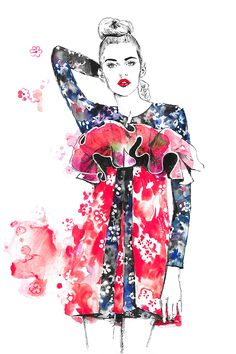 Editorial fashion illustration