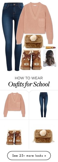 """Untitled #1170"" by karlamichell on Polyvore featuring Pieces, Chloé, UGG Australia and Lipstick Queen"