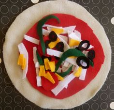 Felt food as done by @Jackie Kersh. The materials could be assembled as a gift for a wannabe crafty mom or big kid.