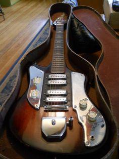 Vintage Kingston 1960s Electric Guitar