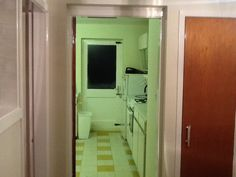 Kitchen door:- to be blocked up, to give a clean line for units:-)