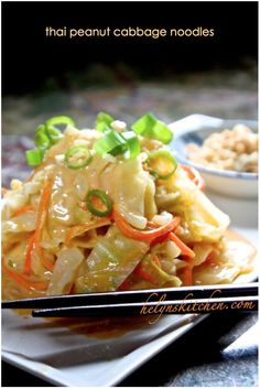 thai peanut cabbage noodles use coconut extract;