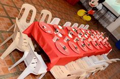 Table set up for kids. Table Set Up, 2nd Birthday, Birthday Candles, Mickey Mouse, Table Settings, Kids, Second Anniversary, Children, Table Top Decorations