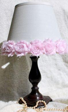 Shabby Chic Lamp Shade Nursery Lamp Shade Rosette by ElluraSage