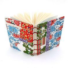 Encuadernacion japonesa: portada collage con papel chiyogami