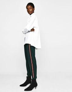 Bershka Serbia - Jogging trousers with side stripe