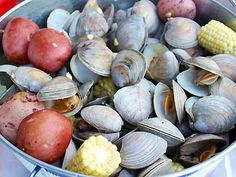 Fun Wedding Food Idea: An East-Coast Clambake on the Beach!! Clambake OC, Southern California Wedding Caterer