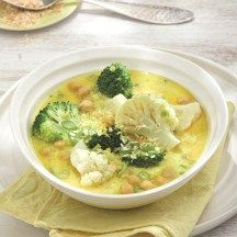 Curry de brocoli à la noix de coco ; weight watchers !