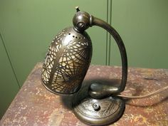 TIFFANY STUDIOS PINE NEEDLE DESK LAMP #552 PATINATED BRONZE