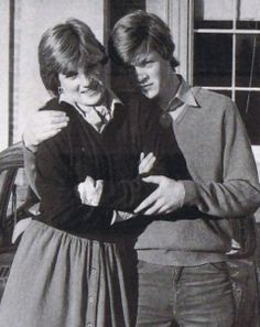 Diana with her brother Charles Spencer