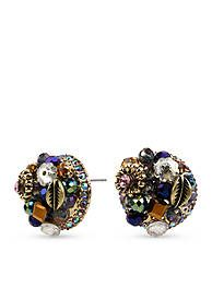Betsey Johnson Woven Cluster Round Stud Earring