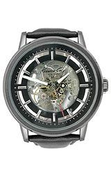 Kenneth Cole KC1632 Watch, Gunmetal baton marker appliques, Whitened indices mark external minute trac