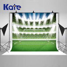 Soccer Football Stadium Spotlight Glitter Photography