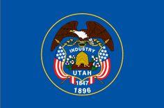 Flag of Utah State, 3 foot by 5 foot.