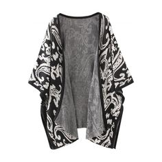Women's Floral Graphic Batwing Sleeve Open Front Cardigan (273.540 IDR) ❤ liked on Polyvore featuring tops, cardigans, outerwear, jackets, coats, flower print cardigan, open front cardigan, open cardigan, bat sleeve cardigan and batwing sleeve cardigan