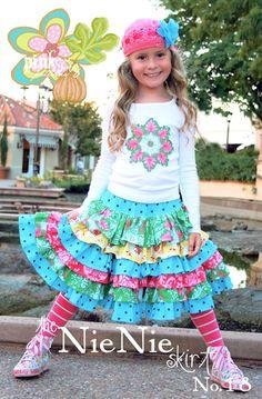 The Nie Nie Skirt by Pink Fig - size 12 mo thru 12 yrs - $4.78 : Whimsical Designs